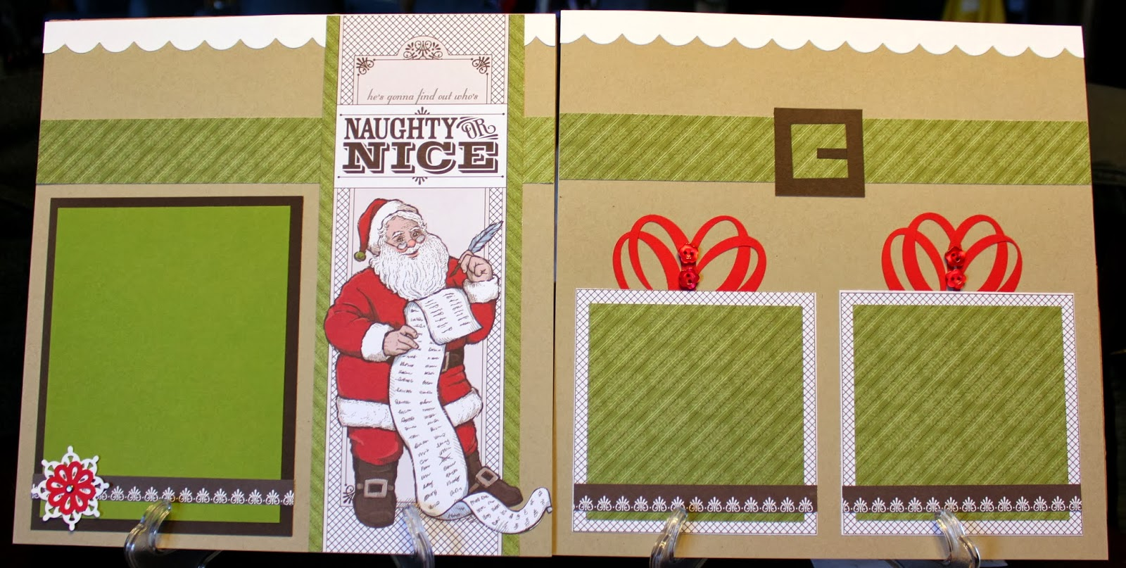 StacyS Stampin Spot Four Page Christmas Layout Withletters From