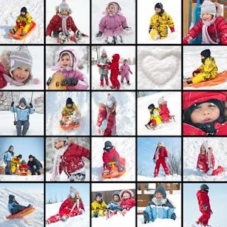 Fotos de niños jugando en la nieve - Kids and Snow