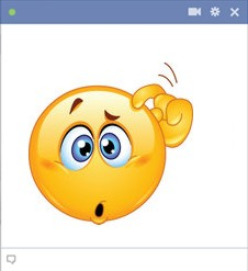 Confused Facebook Smiley
