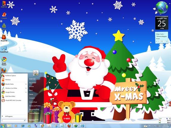 Temas de Navidad para Windows 7 Otrogeek.net
