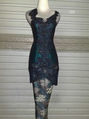 Kebaya Fancy Blueblack Spider