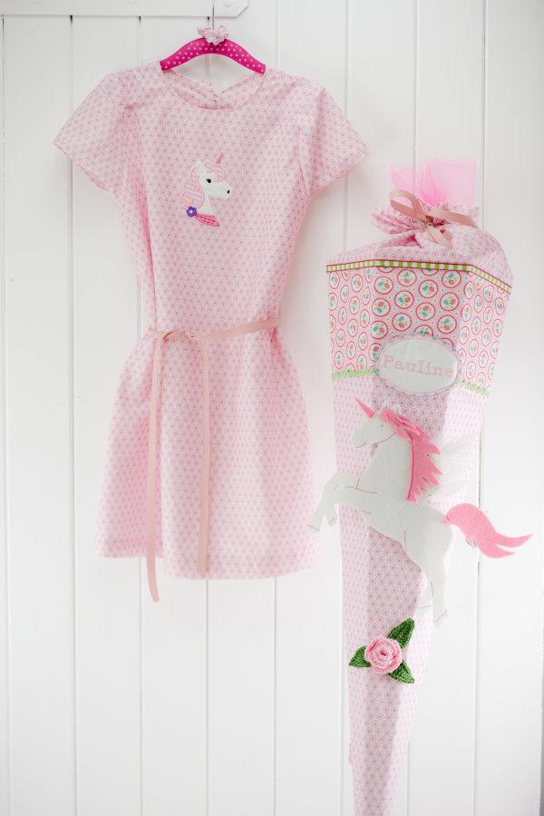 Der erste Schultag: Zeit eine Schultüte und ein passendes Kleid selber zu nähen