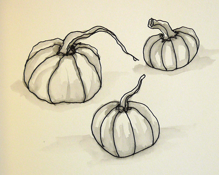 how to draw a realistic pumpkin