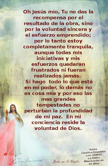 escrito del diario la divina misericordia hacerca de la recompensa