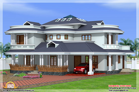 Beautiful 4 Bedroom Kerala Home Exterior Kerala Home Design And Floor Plans
