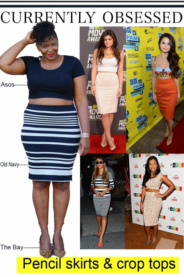 Pencil skirts and Crop tops: how to wear it #plussize edition