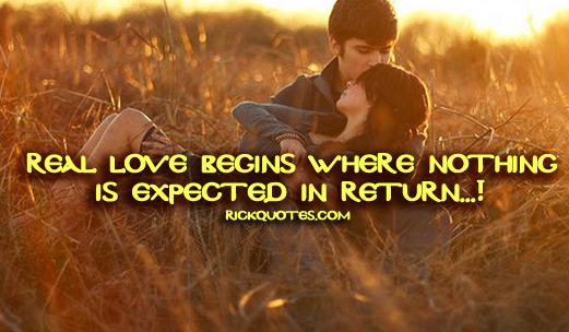 Love Quotes | Nothing Is Expected In Return Love couple Hug Kiss Outdoor