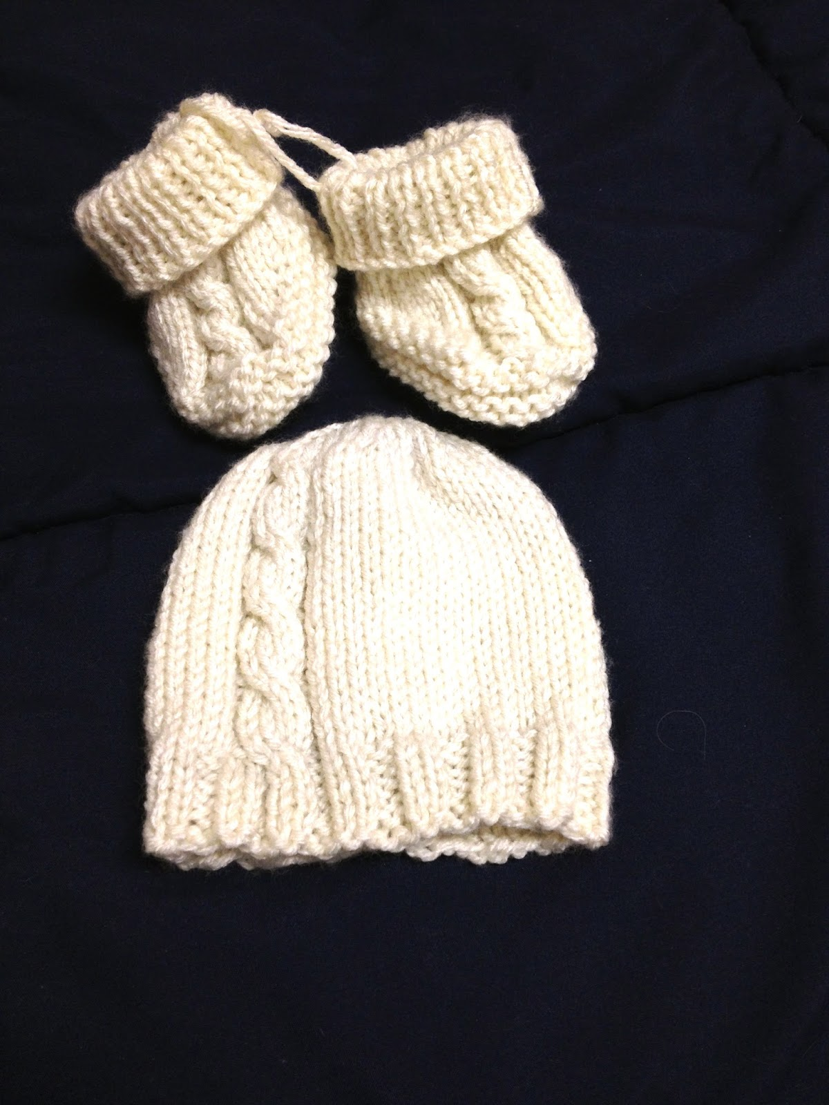 Breiters Two-Needle Cable Baby Booties A Time to Knit