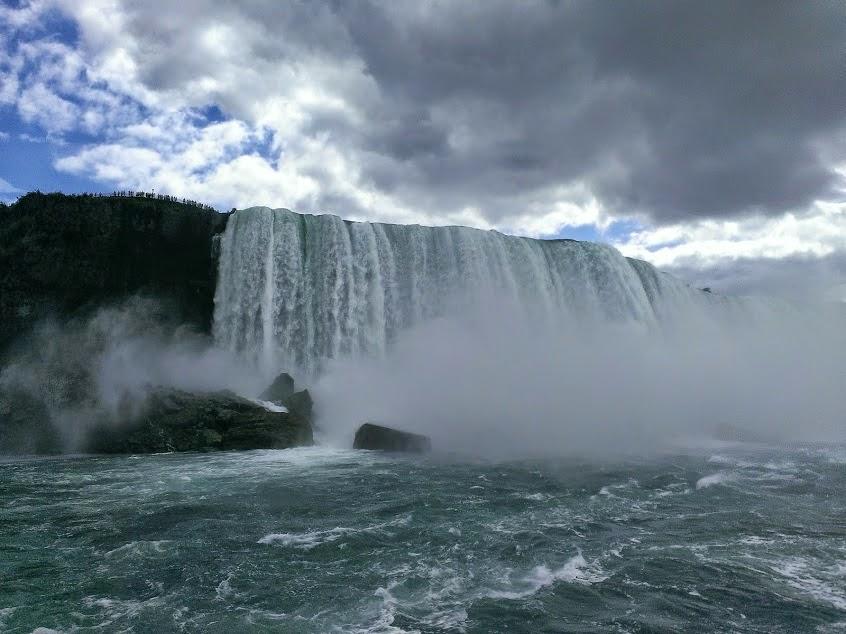 The falls at Niagara Falls September