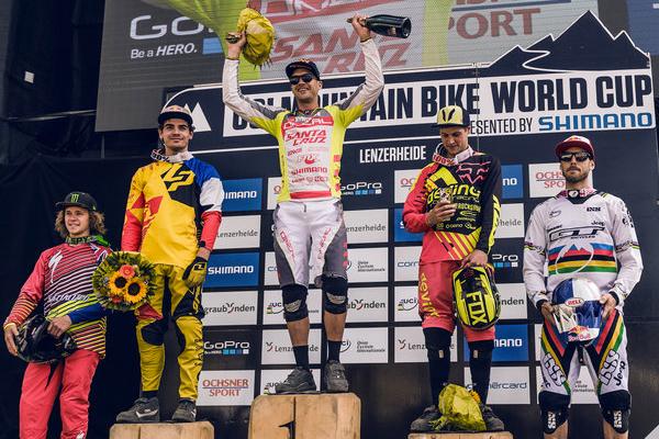 2015 Lenzerheide UCI World Cup Downhill: Results Men's Podium