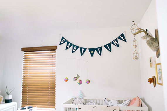 Geometric Touches in a Baby Nursery