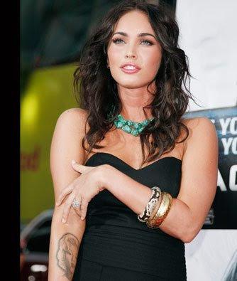 Megan Fox Tattoos 2012