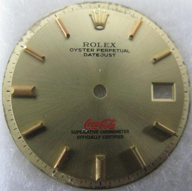 Coca Cola logo Rolex dial