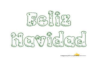 verde de navidad en letras de muñeco de nieve