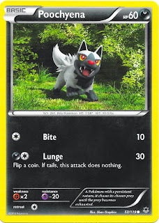 Poochyena Phantom Forces Pokemon Card