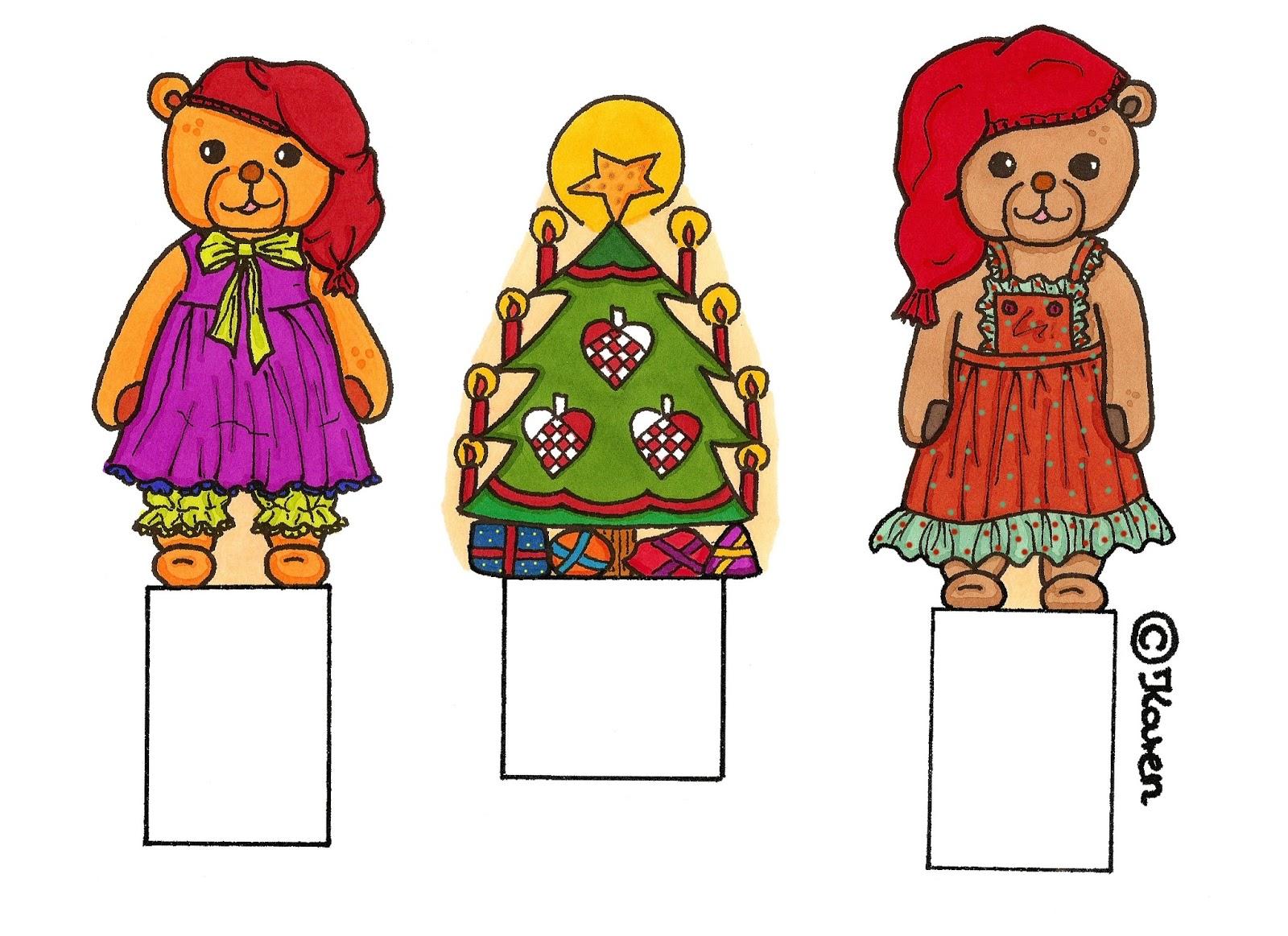 Winter Season Decoration Figurines in Colours.