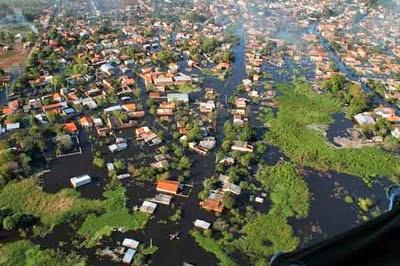 PERSISTEN LAS INUNDACIONES EN PARAGUAY, 24 DE JUNIO 2014