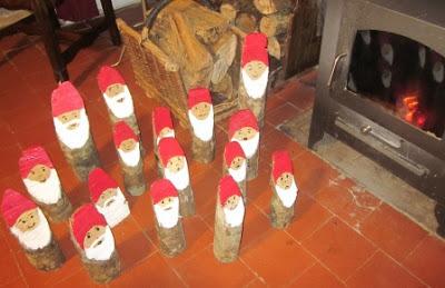 La petite maison de sylvie p re no l en bois - Fendeur de buche fait maison ...