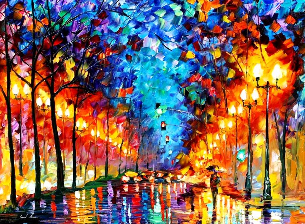 Pinturas cuadros lienzos paisajes con leo esp tula for Abstract impressionism definition