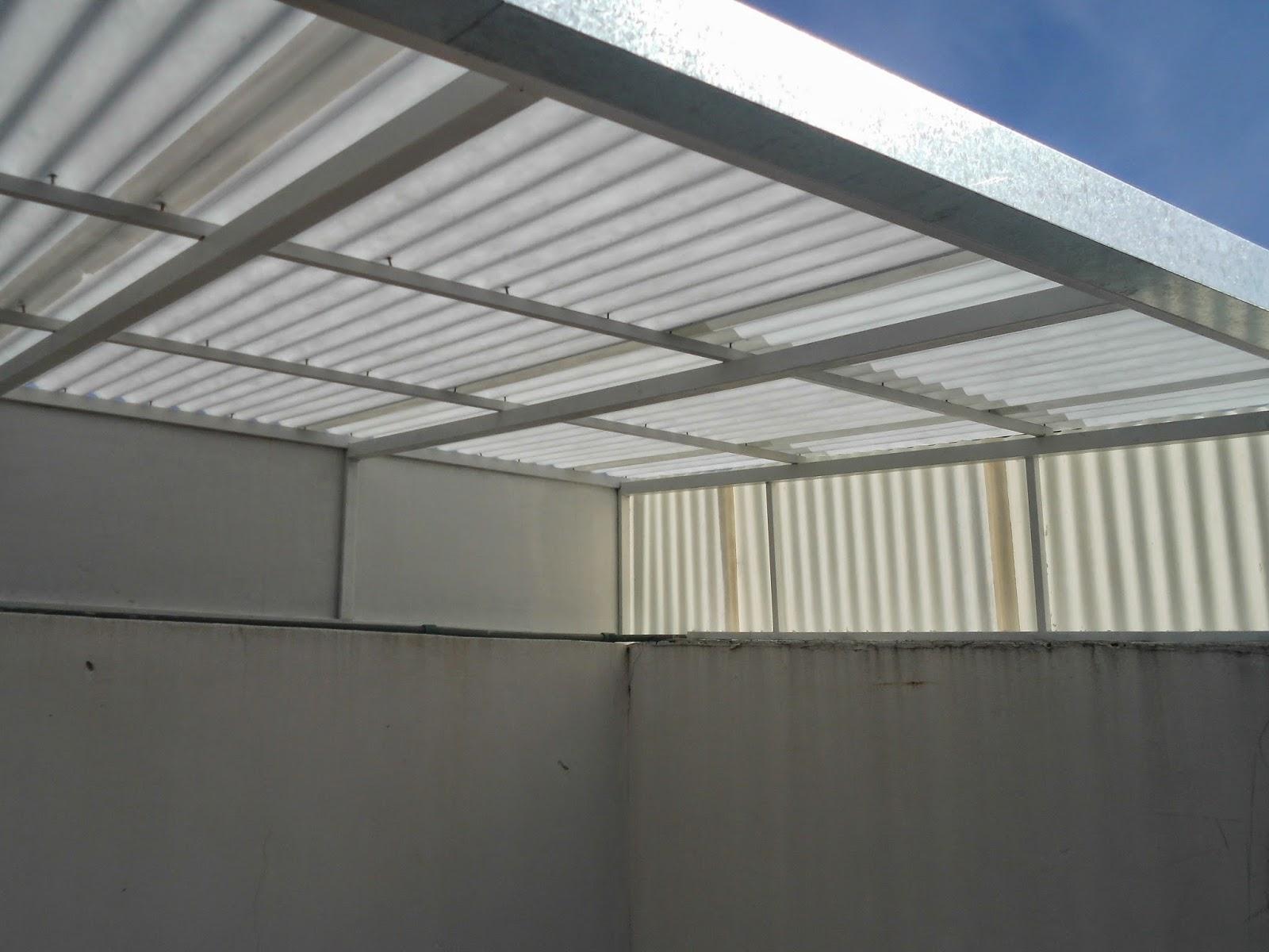Entrepisos de madera escaleras techo chapa blanca con - Escaleras de techo ...