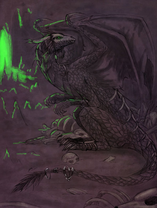 Necromancer Dragon por raerae