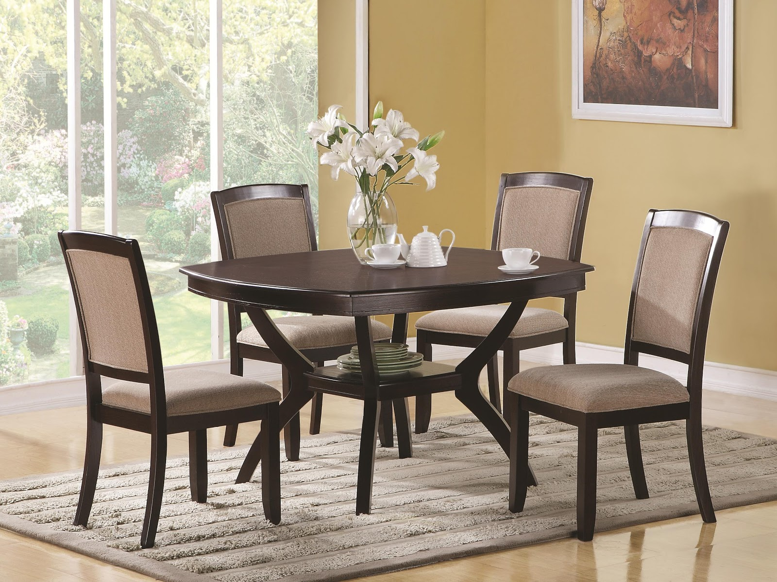 Round dining room sets dining room unique dinette for Dinette furniture