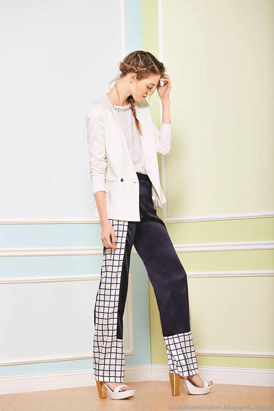 Moda primavera verano 2015. Uma 2015 pantalones y blusas.