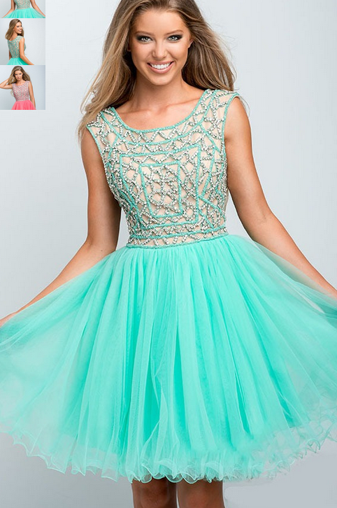 Short A-Line Modest Prom Dress