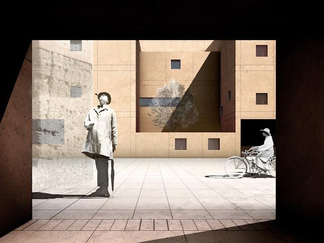 RENDERS 3D PFC - Imagen 3D de fachada para el PFC ETSAM de Adriana Quesada Sánchez - ETSAM UEM UCJC ESAYT USPCEU USP CEU IE UAX UAH UPM ETSA