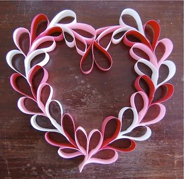 Be DifferentAct Normal Paper Heart Wreath