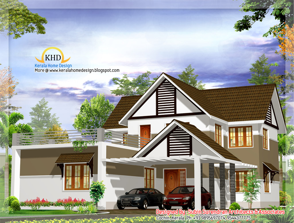 Beautiful villa design 2400 sq ft home appliance for Beautiful villa design