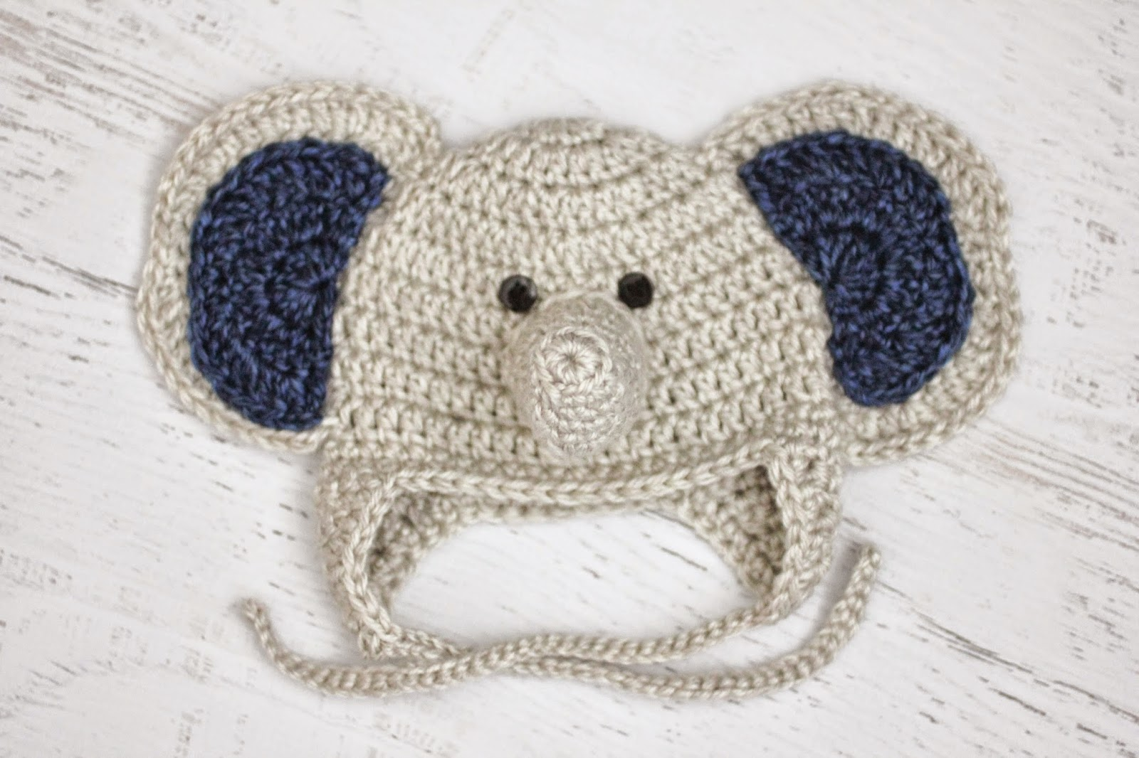 Crochet Pattern For Baby Elephant Hat : Repeat Crafter Me: Crochet Baby Elephant Hat and Lion ...