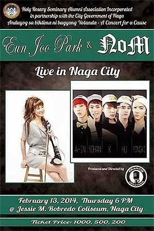 Eun Joo Park, NOM concert in Naga City
