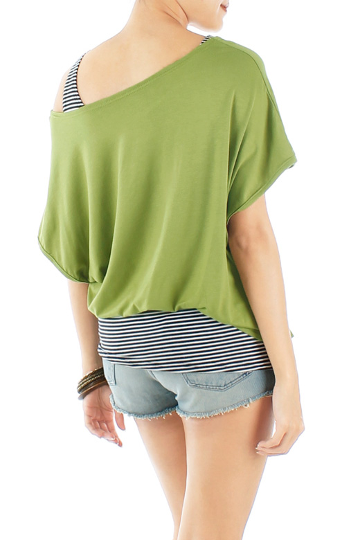 Island Green Slouchy Two-way Top