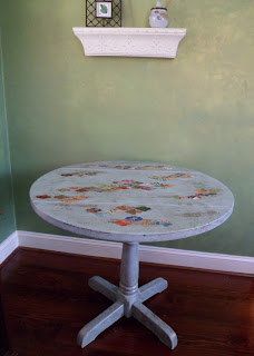 bohemian decoupaged bistro table