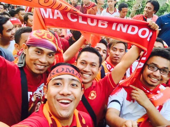 Fans Sambut Meriah Kedatangan AS Roma di JKT