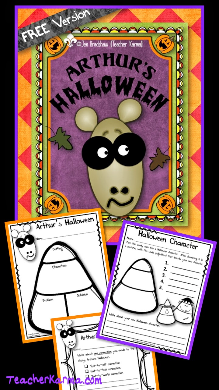 Arthur's Halloween FREEBIE.  TeacherKarma.com