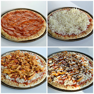 Step by Step instructions on making the perfect Buffalo Chicken Pizza