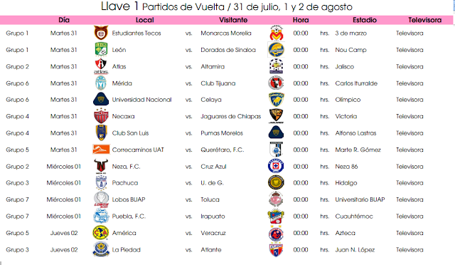 Calendario De La Liga Mx 2015 2016 | newhairstylesformen2014.com