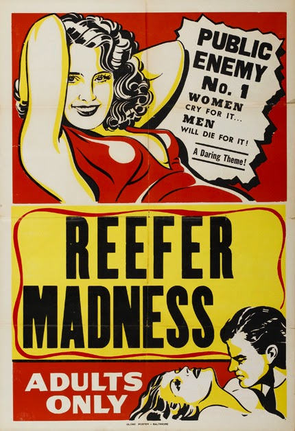 classic posters, free download, free printable, graphic design, horror movie, movies, printables, retro prints, theater, vintage, vintage posters, vintage printables, Reefer Madness, Public Enemy No. 1 - Vintage Movie Printable Poster