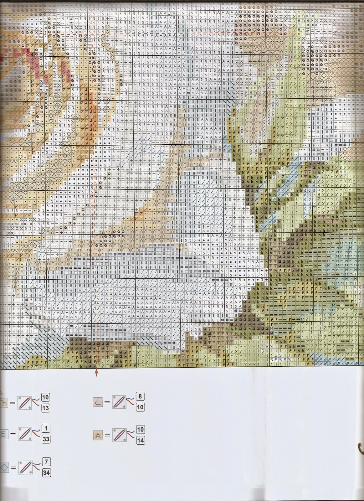 Схема вышивки алиса белые розы 59