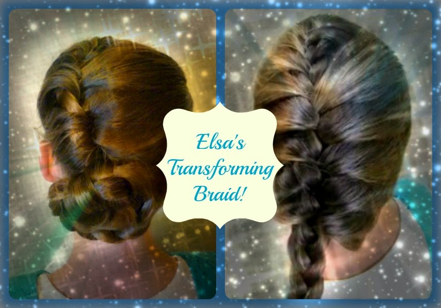Elsa hair tutorial, go from an updo to a braid!