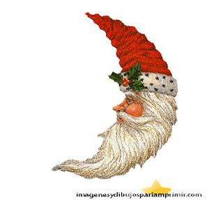Santa Claus en forma de luna