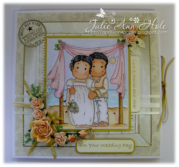 This is the second of the three commission wedding cards which last week