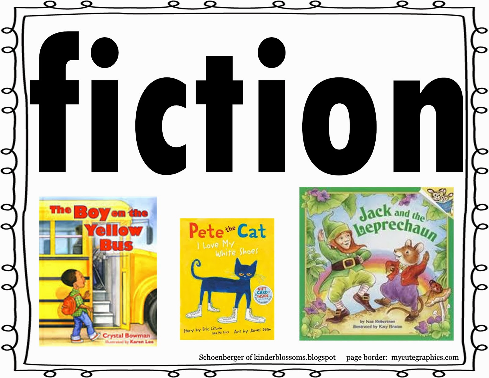 Christina's Kinder Blossoms: Fiction and Nonfiction Sort (Five for ...