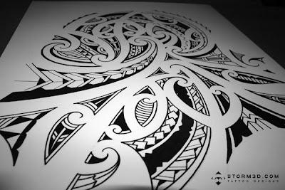 shoulder sleeve tatou in maori kirituhi style. Black Bedroom Furniture Sets. Home Design Ideas