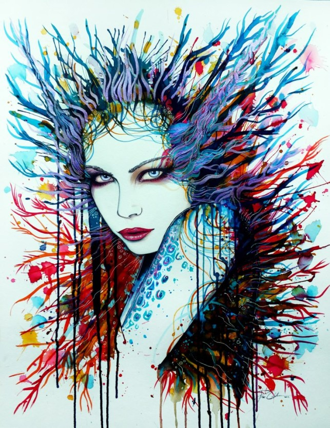 Svenja j dicke paints people with a splash of water color for Creative abstract painting