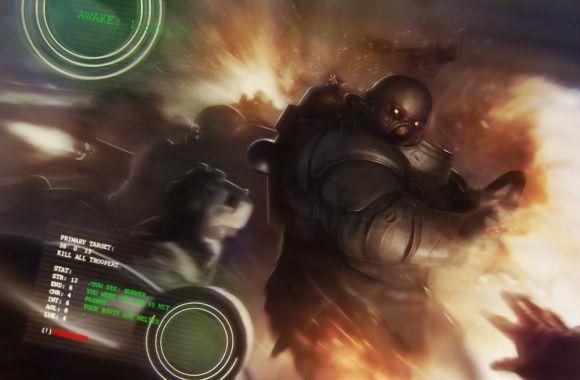 Stepan Alekseev ilustrações digitais fantasia violência Batalha