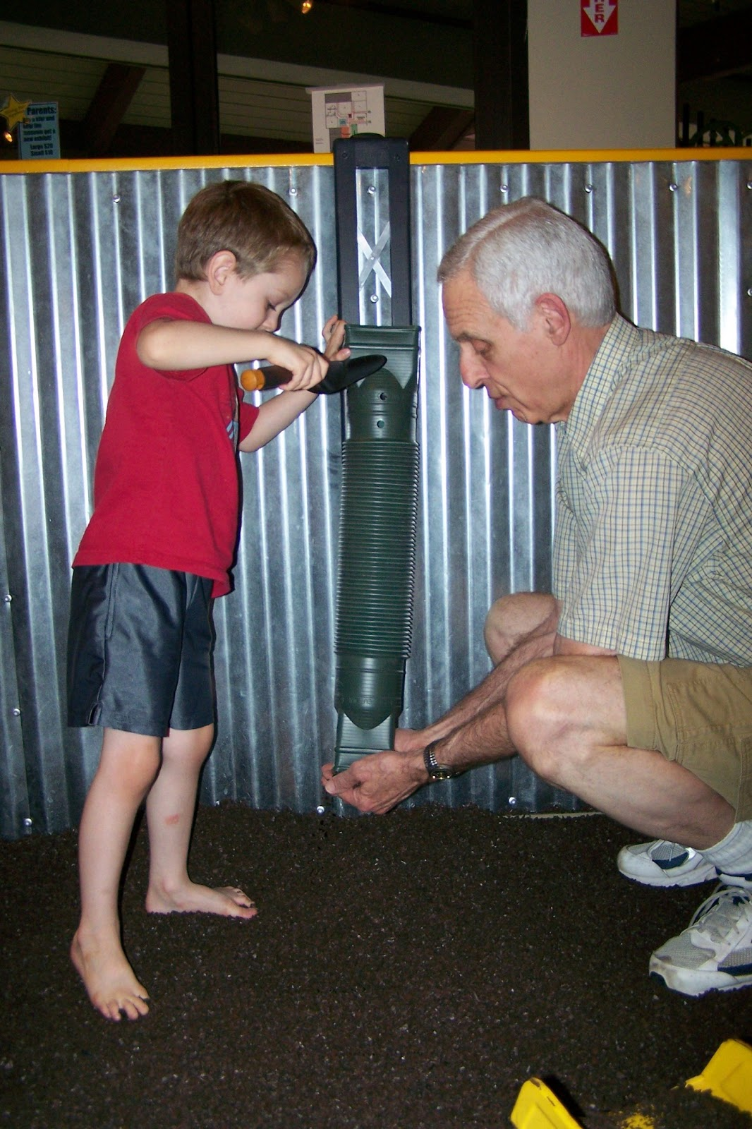 Grandma And Grandpa Showed Ryan What Rubber Mulch Was He Thought It Was Pretty Cool Until He Tried To Eat It Ian Liked The New Addition Of A Tube In