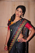 Actress Maneesha Photos in Saree-thumbnail-19
